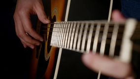 Man playing guitar close up Royalty Free Stock Photography