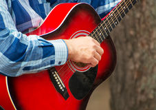 Man playing guitar. Royalty Free Stock Photography
