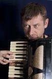Man Playing Harmonica Stock Photos