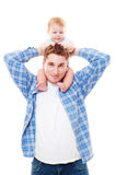 Man playing with his son Royalty Free Stock Photo