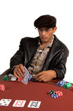 Man Playing Hold Um Royalty Free Stock Images