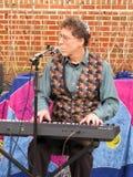 Man Playing the Keyboard at the Hanukkah Celebration Royalty Free Stock Image