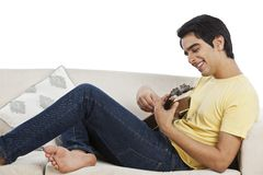 Man playing mandolin Stock Photo