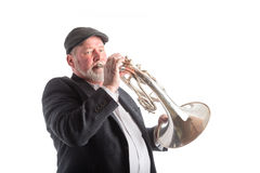 Man playing a Mellophone Royalty Free Stock Images