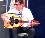 Man Playing Oud Stock Photography