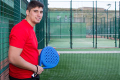 Man playing paddle tennis Royalty Free Stock Photography