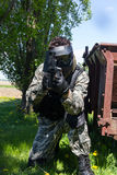 Man playing paintball Royalty Free Stock Images