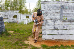 Man playing paintball Royalty Free Stock Photo