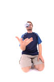 Man is playing petanque Royalty Free Stock Images