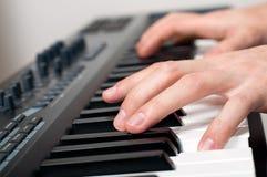 Man playing piano Royalty Free Stock Photo