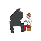 Man playing piano Royalty Free Stock Images
