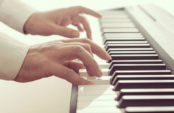 Man playing a piano Royalty Free Stock Photo