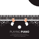 Man playing piano. Stock Photos