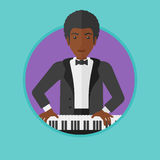 Man playing piano vector illustration. Stock Images