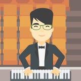 Man playing piano vector illustration. Royalty Free Stock Photos