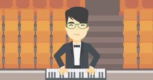 Man playing piano vector illustration. Stock Photo