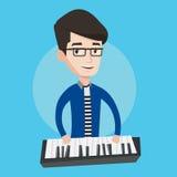 Man playing piano vector illustration. Royalty Free Stock Photo