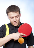 Man playing ping pong Royalty Free Stock Image