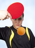 Man playing ping pong Royalty Free Stock Photo