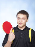 Man playing ping pong Royalty Free Stock Photography