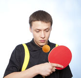 Man playing ping pong Stock Photography