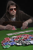 Man playing poker Stock Image