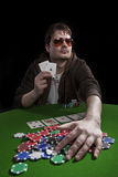 Man playing poker Stock Photos