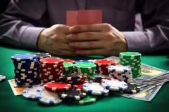 Man playing poker Royalty Free Stock Images