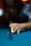 Man playing pool Stock Image