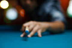Man playing pool Stock Photography