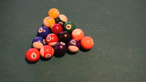 Man playing pool. Concentrated young man playing pool- white ball hitting, opening match stock video footage