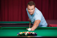 Man playing pool. Stock Photo