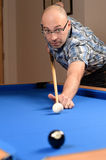 Man playing pool Royalty Free Stock Image