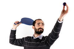 Man playing rackets Royalty Free Stock Images