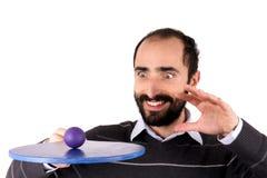 Man playing rackets Stock Photos