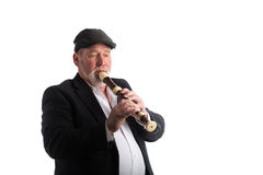 A man playing a recorder Royalty Free Stock Image