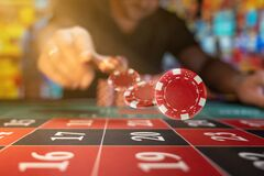 Free Man Playing Roulette At The Casino Stock Images - 183032844