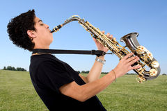 Man playing sax Royalty Free Stock Images
