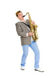 Man playing the saxophone. Royalty Free Stock Photography