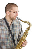 Man playing the saxophone Stock Photography