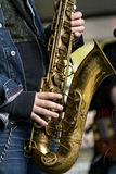 Man playing saxophone Stock Image