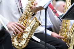 Man playing saxophone Stock Image
