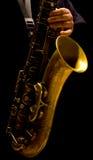 Man playing saxophone Royalty Free Stock Photography
