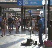 Man playing Saxophone at Circular Quay. Stock Photos