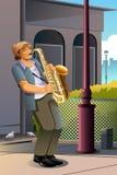 Man Playing Saxophone Stock Photo