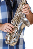 Man playing the saxophone Royalty Free Stock Images