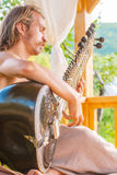 Man playing on sitar Royalty Free Stock Image