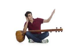 Man playing sitar Royalty Free Stock Photography
