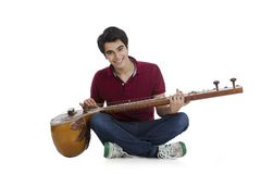 Man playing sitar Stock Photography