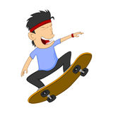 Man playing skateboard cartoon Royalty Free Stock Images